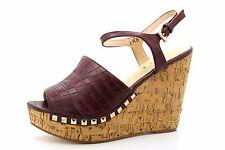 Ravel Tacoma Womens UK 6 EU 39 Burgundy High Wedge Heel Studded Strappy Sandals