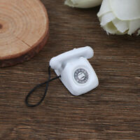 1/12 Dollhouse Miniature White Telephone Pretend Play Doll House Furniture T Fw