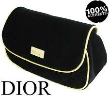 100% Autentico RARE DIOR COUTURE BLACK & GOLD Poison Beauty Pochette Borsa Custodia in velluto