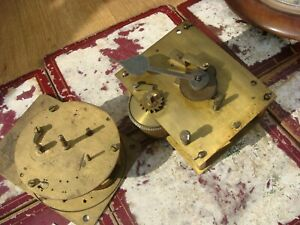 Vintage  Antique  Fusee  Movement & Dial For Mantle Clock For Spare / Repair