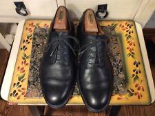 Vintage Lands End Black Leather Oxfords Dress Shoes Lace Up Men's Size 7.5M