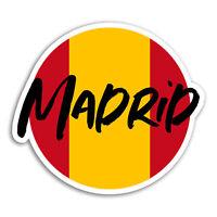 2 x 10cm Madrid Vinyl Stickers - Spain Flag Travel Sticker Laptop Luggage #18326