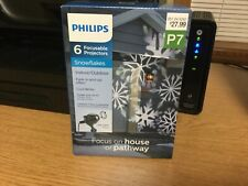Philips Snowflakes focusable  Projector Cool White Bright Lights LED In&outdoor