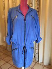 Nicole Miller- Blue Zipper Dress Sz L