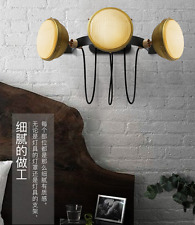Vintage Industrial Triple E27 Light Wall Sconce Metal Brass Finish Wall Lamp