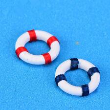 6Pcs мини плавать кольцо украшением спасательный круг миниатюрный сад творческие ремесла
