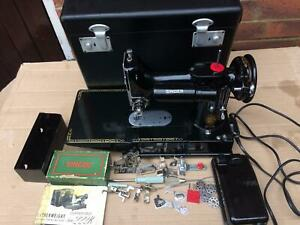 Vintage Singer 222K Featherweight Convertible Free Arm Sewing Machine