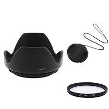 Lens Cap+Hood+UV Filter For 52mm Camera D3100 18-55mm AD