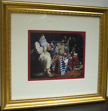 Trunk of Extraordinary Things by Dean Morrissey,framed Santa print with toys