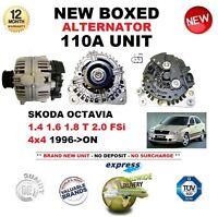 FOR SKODA OCTAVIA 1.4 1.6 1.8 T 2.0 FSi 4x4 1996-ON NEW 110A ALTERNATOR UNIT