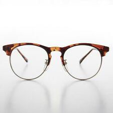 Horn Rim Malcom X Vintage Eyeglasses Brown - Quinn