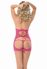 Pink Booty Call Chemise Sexy Panty Lace Cheap 1141 One Size UK Nightwear Thong