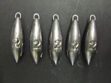 5 x 2oz Beach Bomb Torpedo Lead Weights Lure Cod Sea Pier Mackerel Bait Casting