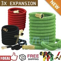 3X Stronger Deluxe 25-150 FT Expandable Flexible Garden Water Hose+Spray Nozzle