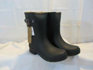 Chooka Women's Delridge Mid Height Waterproof Plush Lining Rain Boots - Size 8
