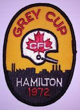 1972 Grey Cup Patch - Hamilton Tiger-Cats CFL