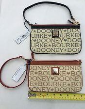 DOONEY & BOURKE~Monogram Large Slim Wristlet Wallet Clutch~2Y11R BROWN~NWT~$78