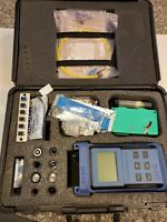 EXFO FOT-90A FIBER OPTIC POWER METER WITH CASE AND ACCESSORIES IN EXCELLENT COND