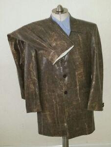 CLUBBING Pimp Suit Gangster Shiny Faux Snake Men 40S Jacket 32 X 27 Pants Blazer