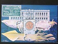 Mónaco Mk 1960 pulpo poulpe Octopus maximum tarjeta Carte maximum card mc cm d1291