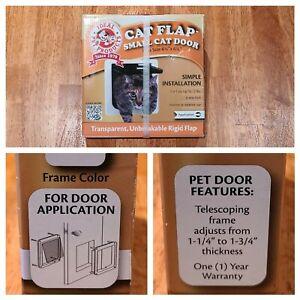 "New! Cat Flap Small Cat Door Transparent by Ideal Pet Products 6 1/4"" X 6 1/4"""