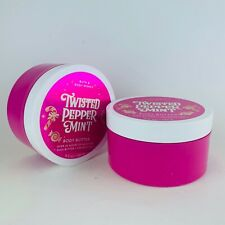 2 Tubs Bath & Body Works Twisted Peppermint Body Butter 6.5 oz 185 g (2019)