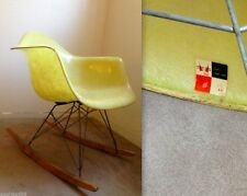 EAMES ROPE EDGE LEMON YELLOW Rocking Chair Vintage Herman Miller Zenith ROCKER!
