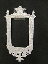 Dollhouse Miniature Unfinished Metal Victorian Mirror Frame