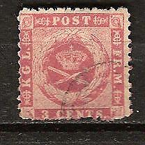 DANISH WEST INDIES # 3 Used COAT OF ARMS