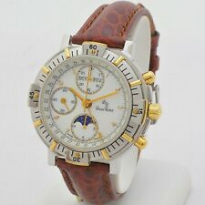 Lucien Rochat Chrono Gmt Tripledate Moonphases mother of pearl deal box & papers