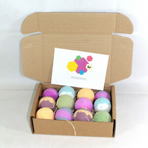 Bath Bombs Rainbow Water Colour Changing set of 12 x 65g Round Bee Beautiful
