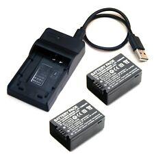 Battery / USB Charger For Panasonic Lumix DMC-FZ100 DMC-FZ150 DC-FZ80 DC-FZ85