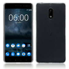 For Nokia 6 N6  Clear Silicone Gel Case Cover + Tempered Glass Screen Protector
