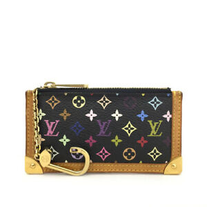 Louis Vuitton Monogram Multicolor Pochette Cles Wallet Coin Purse /70515