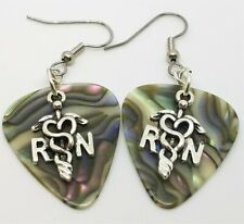 RN Charm Guitar Pick Earrings - Pick Your Color