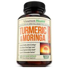 Vimerson Health Turmeric Curcumin with Moringa Oleifera and Bioperin 60 Veg Caps