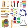 20X enfants en bois bébé instruments de musique jouet tout-petits percussion