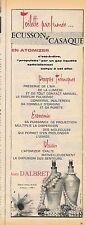 PUBLICITE ADVERTISING 035 1957 JEAN D'ALBRET eau de toilette