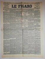 N884 La Une Du Journal Le Figaro 25 juin 1900 Pékin, échos Hors Paris