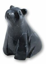 "Black marble bear 3"" décoratif ornement collection animal"