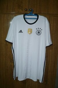 Germany Adidas Football Shirt Home 2016/2017 White Soccer Jersey Men Size 2XL