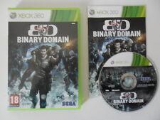 BD BINARY DOMAIN - MICROSOFT XBOX 360 - JEU X BOX 360 COMPLET