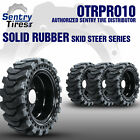 12x16.5 Sentry Tire Skid Steer Solid Tires 4 w/ Wheels for NEW HOLLAND 12-16.5