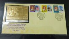 Private FDC - Royal Selangor Pewter Gold Gilded Silver YDP Agong Stamp 1999
