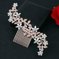 Wedding Rhinestone Crystal Clips Diamante Bridal Comb Headwear Pins Accessories