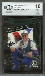 1998 press pass oil cans #oc7 MARK MARTIN BGS BCCG 10