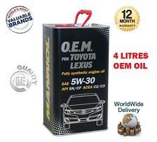 per Toyota Auris VVTi D4D 2006> SAE 5W30 API SN/CF ACEA C2/C3 MOTORE OLIO