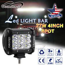 27W Spot Tri-Row 4 Inch LED Pod Light LED Fog Driving Light Offroad Car Truck