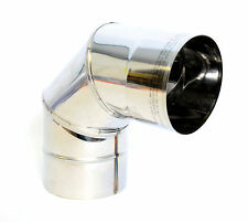 Stainless Steel Chimney Flue Liner Bend 90 Degree Elbow Single Wall Pipe Tube