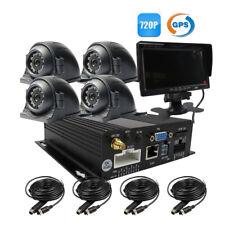 """DIY 4ch GPS 720p AHD 256gb SD Car DVR MDVR Video Recorder 1.0mp Camera 7"""" LCD"""